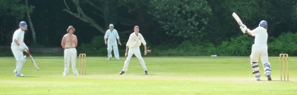 Pete dispatches a full toss